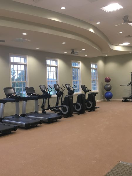 Fitness room at Ocean View Beach Club Clubhouse